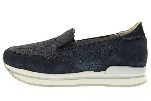 HOGAN scarpe donna slip on HXW2220T671G4D0X05 H222 PANTOFOLA Blu