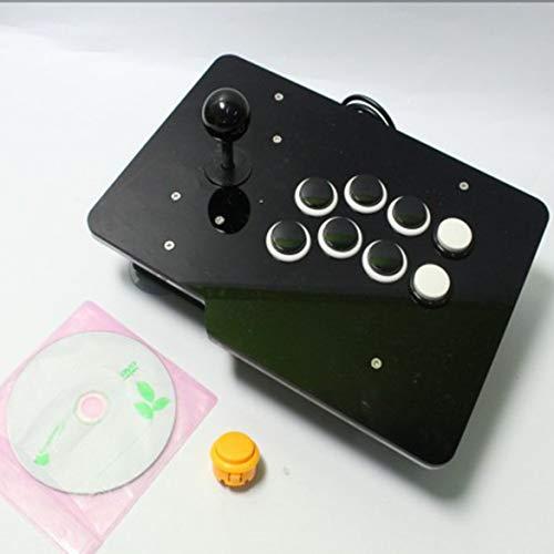 JohnJohnsen Arcade Game Retro Konsolen-Spiele Vorinstallierte All In One 8 Tasten Plug & Play Single Edition (weiß und schwarz)