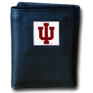 College Tri-fold Leather Wallet - Indiana Hoosiers by Siskiyou