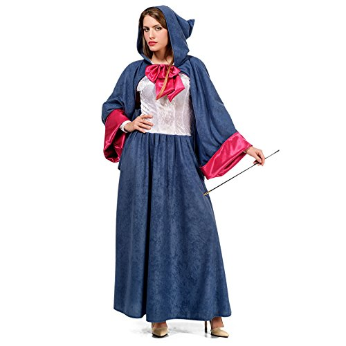 Cinderella Gute Fee Kostüm Damen Märchen Kostüm blau pink - S