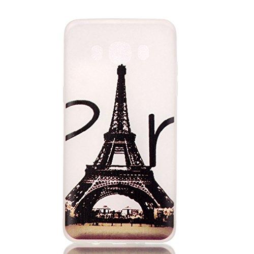 Voguecase® Per Apple iPhone 5 5G 5S, Custodia Silicone Morbido Flessibile TPU Custodia Case Cover Protettivo Skin Caso (Nero - unicorno) Con Stilo Penna Torre 18