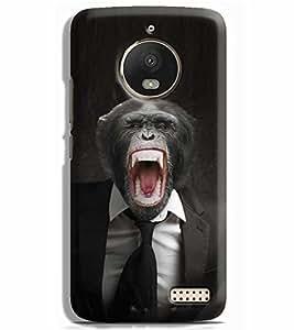 Printvisa chimpanzee Monkey Tie Suite Designer Printed Hard Back Case For Motorola Moto E4