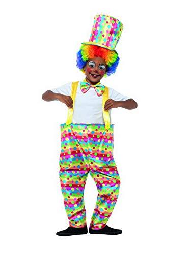 Kostüm Artisten - Luxuspiraten - Jungen Kinder Zirkus Clown Kostüm, Reif Hose mit Fliege und Hut, perfekt für Karneval, Fasching und Fastnacht, 122-134, Mehrfarbig