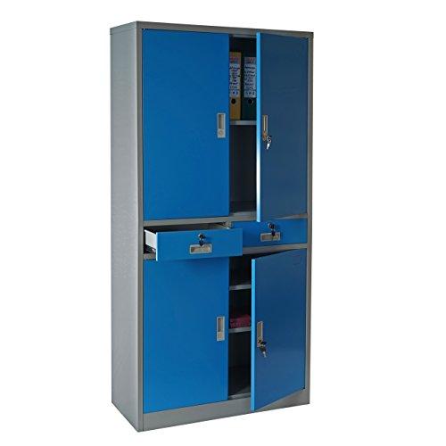 Aktenschrank Boston Metallschrank, blau - 2