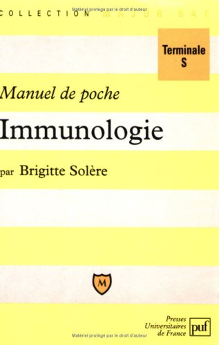 Manuel de poche immunologie