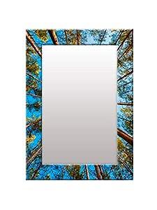 999Store Printed Green Tree& Blue Sky Pattern Mirror