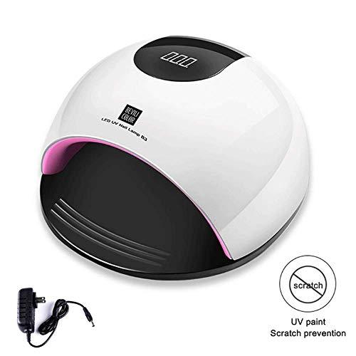 80W Hochleistungs-LED-Nagellampe drying Schnelltrocknendes Beauty-Nagel-Sensor-Licht Wiederaufladbares UV-Gel-Nageltrockner-Mädchengeschenk (White) White Shore Netzkabel