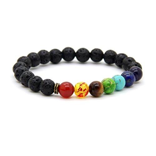 GOOD.designs Sieben Chakra Perlenarmband aus Echten Natursteinen, Energie-Armband für Damen und Herren mit Allen 7 Hauptchakren