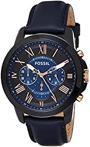 Fossil Mens Quartz Watch, Analog Display and Leather Strap FS5061IE