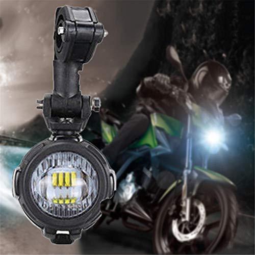 Fari Moto LED Faretto Anteriore con Interruttore On Off Fanale Lampada Universale per Moto Motocicletta Fendinebbia+Griglie di Protezione Anteriori + Cablaggio.- Impermeabile 40 W 3000lm