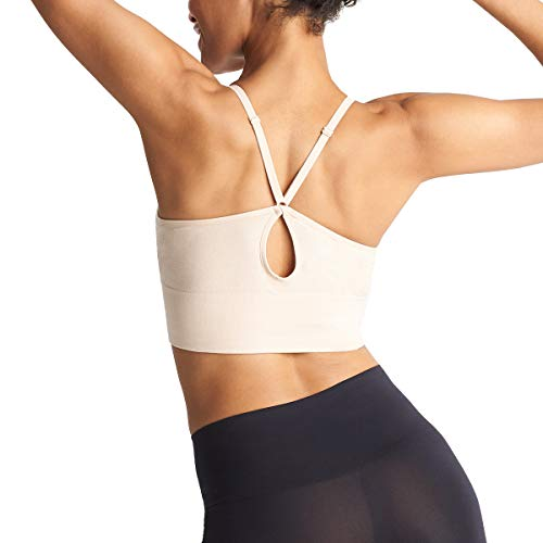 Yummie Damen Evelyn Long Line Seamless Wire Free Racer Back Bra BH, Frappe, Medium/Large - 2