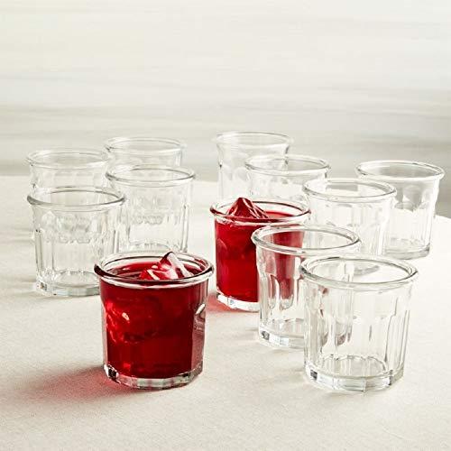 12 Stück haltbare Trinkgläser Set bestehend aus 12 DOF Gläsern - edler schwerer Boden - ideal für Wasser, Saft, Bier, Wein und Cocktails Dof Gläser Set