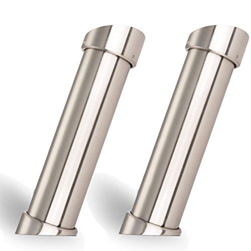 2x SO-TECH® Console de Bar - Hauteur 200 mm Diamètre 50 mm Finition en Acier Inox - Support Comptoir Pied de Comptoir Support Bar/en biais