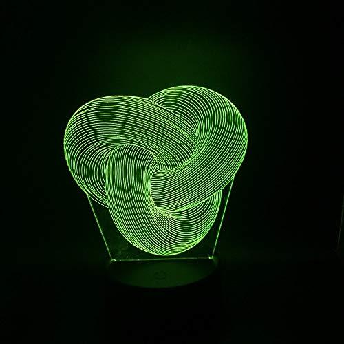 Dimmbare Twist Knot 3D Led Nachtlicht Home Schlafzimmer Party Büro Cafe Bar Decor Schreibtisch Tischlampe Geschenke Fernbedienung -