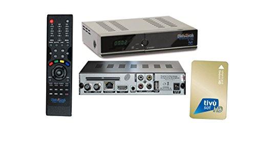 Tivu Medialink HD CIS Plus Full HD Sat USB Receiver + TivuSat Karte Aktiviert inkl. HDMI Kabel M@tec Digital