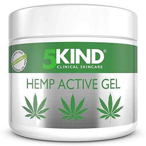 Beruhigendes Hanf-Aktivgel für Muskeln & Gelenke - Sehr wirksame, beruhigende Formel mit Cannabisöl und natürlichen Extrakten von 5kind. Beruhigt Füße, Knie, Rücken, Schultern (300ml)