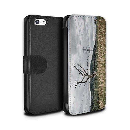 Stuff4 Coque/Etui/Housse Cuir PU Case/Cover pour Apple iPhone 5C / Fausse Alarme Design / Imaginer Collection Arbre Électrique