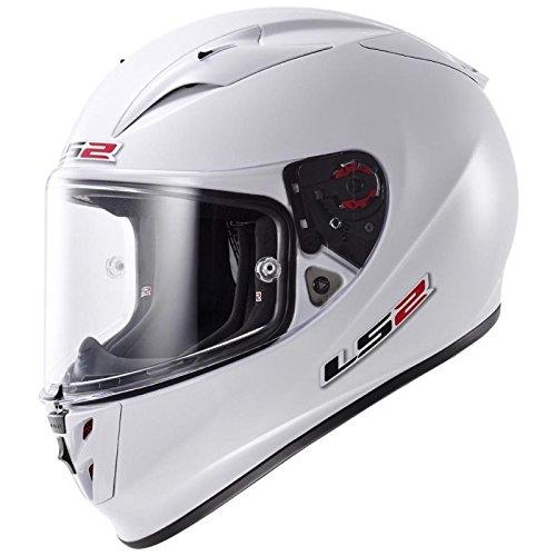 LS2 - Casco per Moto, Bianco, L