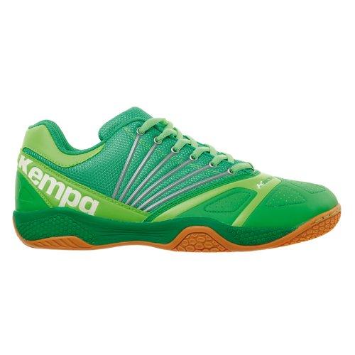 Kempa Thunderstorm, Scarpe da Basket Uomo, Multicolore, Größe UK Verde (Grün (grün/grasgrün/fluo grün 02))
