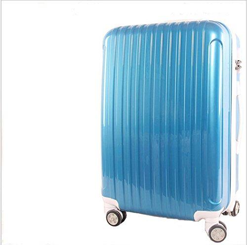 Xiuxiandianju 20 pollici 24 pollici ruota universale leva viaggio impermeabile ABS valigia bagaglio di viaggio SuitcaseColour & formato differente , deep blue , 24 inch
