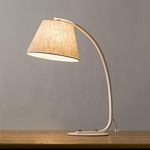Sockel Tisch Restaurant (Moderne europäische Metall / Leinen Tischlampe Nachttischlampe Schlafzimmer Wohnzimmer Restaurant Leselampen, Hotel Tischlampe, Schwarz und Weiß optional XIANGYU ( Farbe : TH8001 ))