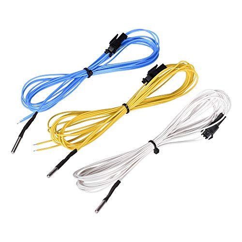 ExcLent Blue/Yellow/White 2M Ntc 3950 100K Ohm High Temperature Resistance Thermistor Sensor for 3D Printer V6 Heat Block Hotend - weiß -
