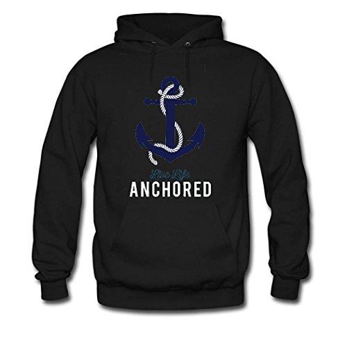 HGLee Printed Personalized Custom anchor Women's Sweatshirts Hooded Hoodies Black--3