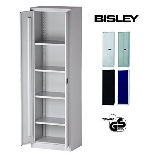 Bisley Aktenschrank abschließbar in grau Metallschrank Stahlschrank Werkzeugschrank Blechschrank...
