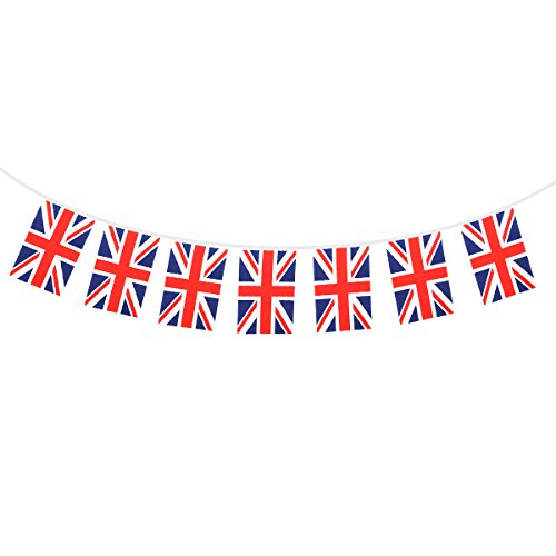 Tinksky UK Britische Flagge Banner String, 32 Nationalen Landflaggen Union Jack Flagge Wimpel Girlande Banner Girlanden Für Supermarkt Party Bar Sport Club Dekoration (Club-wimpel)