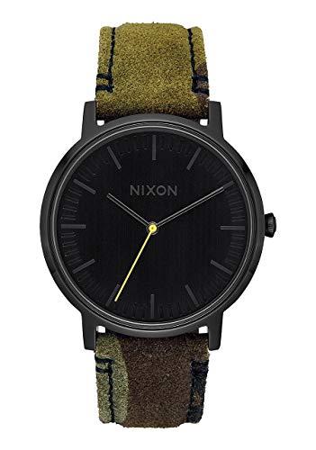 Nixon Unisex Adult Analogue Quartz Watch with Leather Strap A1058-3054-00