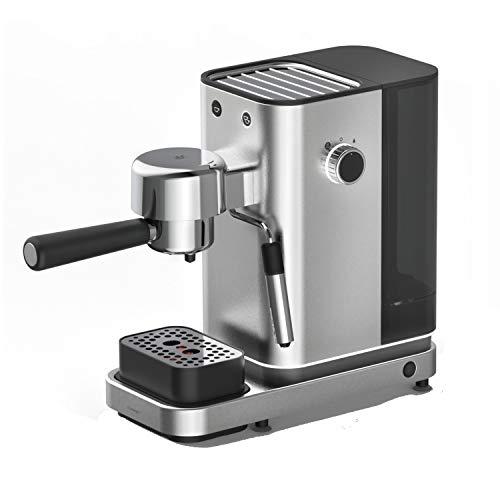 WMF Lumero Siebträger Espressomaschine (1400 Watt, mit 3 Einsätzen, für 1-2 Tassen Espresso, für Pads, 15 bar, Tassenabstellfläche, Milchaufschäumdüse)