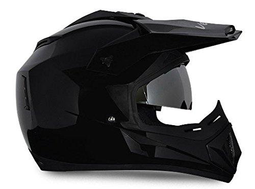 Vega Off Road OR-D/V-K_M Full Face Helmet (Black, M)