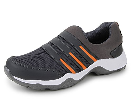 Trase TWD Men's Ultra Grey/Orange Sports Running Shoes