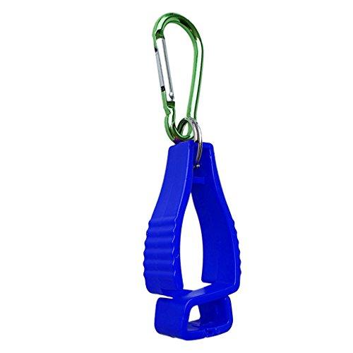 SM SunniMix Metall Handschuhclip Handschuhhalter Tarp Clip mit Karabiner Handschuh Grabber Clips für Erwachsene Kinder - Blau (Für Handschuh-clips Erwachsene)