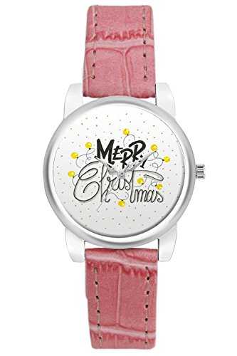 Women's Watch, BigOwl Merry Christmas Designer Analog Wrist Watch For Women - Gifts for her dials