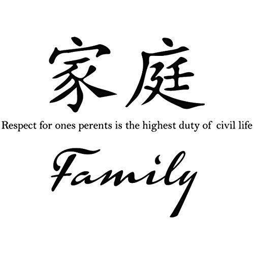 jiushizq Neu Ankunft Wandaufkleber Familie Chinesisches Sprichwort Wasserdicht Art Decals Autocollant Wandbild Kreative Wohnkultur Schlafzimmer Z 78x56 cm