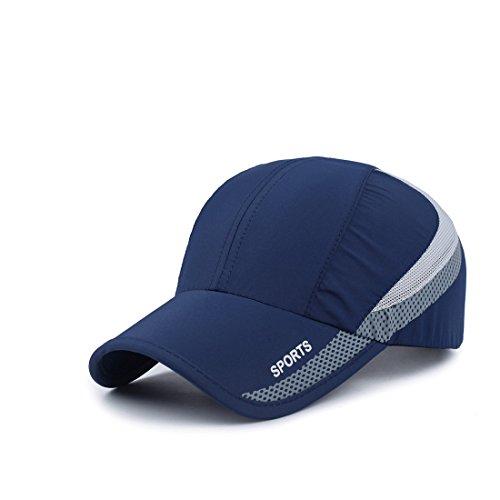 Sportliches Baseball Cap (BeFur Unisex Sportliche Mesh Outdoor Sport Baseballmütze Schirmmütze Baseball Caps - dunkelblau)