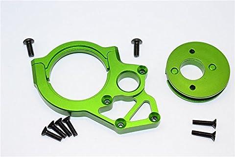 Axial Yeti, Yeti SCORE & RR10 Bomber Upgrade Parts Aluminium Transmission Motor Mount - 3Pcs Set Green