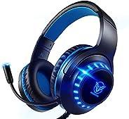 Pacrate Auriculares Gaming PS4, Auriculares con Micrófono PC, Auriculares Gamer con Cable para Xbox One Ninten