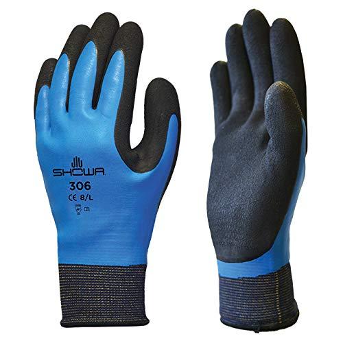 5 Paar 306 vollständig beschichtete Latex Showa Grip Handschuhe Water repellent Arbeitskleidung - Größe 9 XL