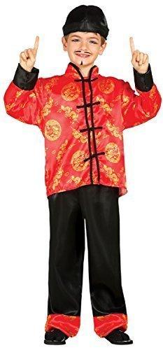 Kostüm Japanischen Karate Den - Fancy Me Jungen Orientalische Japanisch Rund um die Welt Karate Welttag des Buches Woche Karneval Fest Chinesisch Jahr Kostüm Kleid Outfit 3-9 Jahre - 5-6 Years