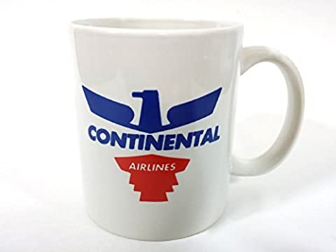 Continental Airlines Coffee Cup Mug Vintage Logo Pilot Aviation CAL Airways Aircraft Jet