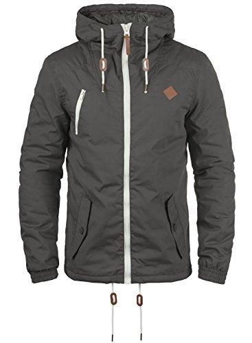 !Solid Tilden Herren Übergangsjacke Herrenjacke Jacke Mit Kapuze, Größe:L, Farbe:Dark Grey (2890)