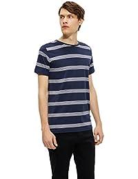 Matinique Jermane Stripe T-Shirt, Herren, Small, Marineblau