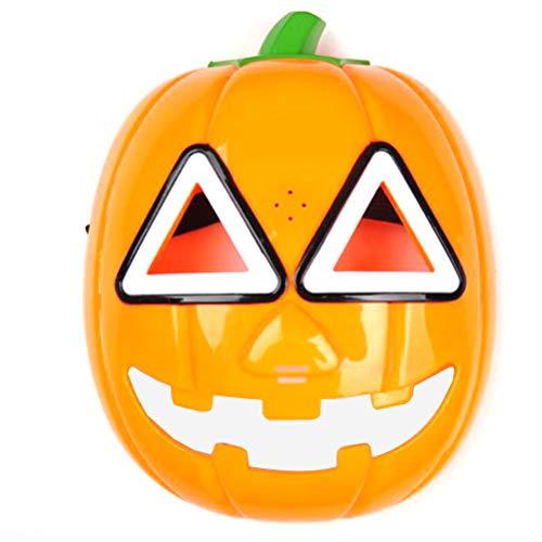 rty Glühende Kürbis Maske Vollgesichtsmaske Halloween Kostüme Musik Party Cosplay Maske Tanz Makeup Prop Halloween Party Favors ()