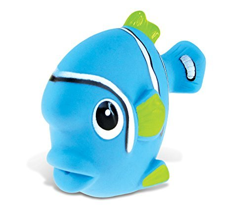Puzzled Blue Fish Rubber Squirter Bath Buddy Bath Toy - Ocean \ Sea Life Collection - 3 INCH - Affordable Gift For Your Little One - Item #2783