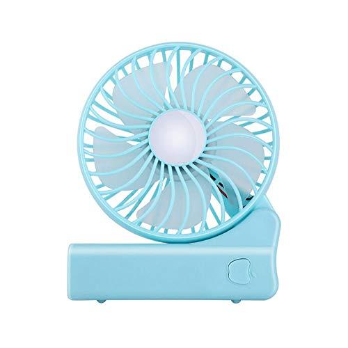 USB Wiederaufladbar - Tragbarer Falt Ventilator persönlicher Kleiner betriebener elektrischer Ventilator 3 Einstellbare Windgeschwindigkeit für das Reisen im Büro im Freien,Blau ()