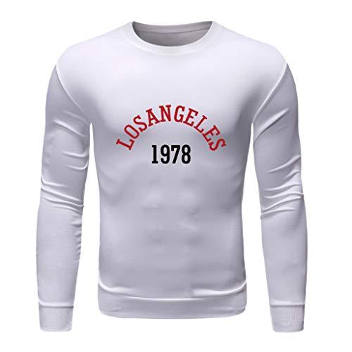 TEBAISE Sweatshirts Pullover Herren O-Neck Sweatshirt Rundhalsausschnitt Pullover 2019 Lässiger Basic Pulli Sweater Regular Fit Langarmshirts Oberteil Mit EIN Anderer Print auf der Front -