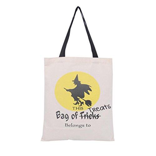 Sacchetto di Halloween, Longra borsa di tela halloween 36cm × 44cm D