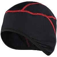 West ciclismo bicicleta cascos ciclismo gorro térmico forro casco bicicleta Fleece sombrero de invierno, Niños mujer hombre, color rojo, tamaño Tamaño libre